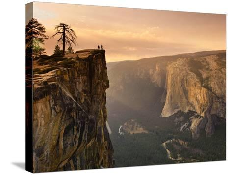 California, Yosemite National Park, Taft Point, El Capitan and Yosemite Valley, USA-Michele Falzone-Stretched Canvas Print