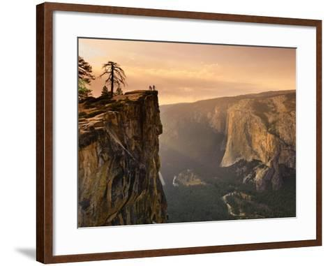 California, Yosemite National Park, Taft Point, El Capitan and Yosemite Valley, USA-Michele Falzone-Framed Art Print