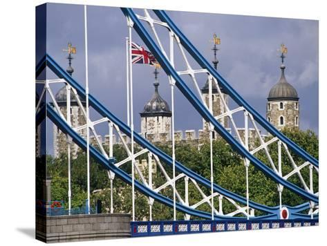 London, the Tower of London and Tower Bridge, England-Paul Harris-Stretched Canvas Print