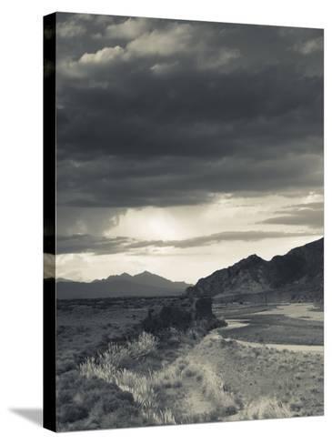 Mendoza Province, Uspallata, Mountain Light in Rio Mendoza River Valley, Argentina-Walter Bibikow-Stretched Canvas Print