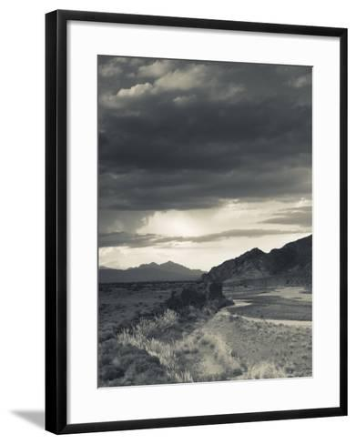 Mendoza Province, Uspallata, Mountain Light in Rio Mendoza River Valley, Argentina-Walter Bibikow-Framed Art Print