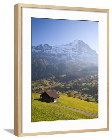 Alpine Meadow, Eiger and Grindelwald, Berner Oberland, Switzerland-Doug Pearson-Framed Art Print