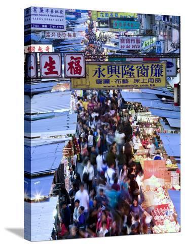 Hong Kong, Kowloon, Mongkok, Fa Yuen Street Market, China-Peter Adams-Stretched Canvas Print