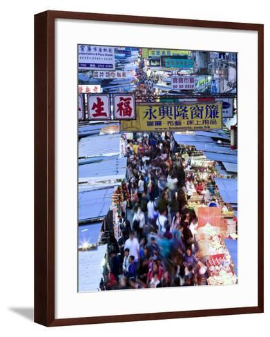 Hong Kong, Kowloon, Mongkok, Fa Yuen Street Market, China-Peter Adams-Framed Art Print