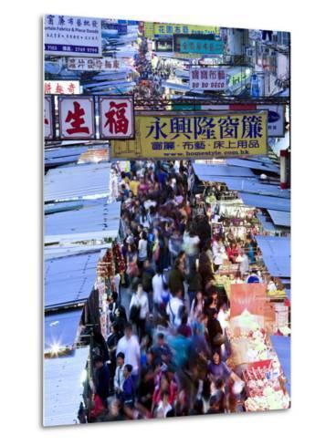 Hong Kong, Kowloon, Mongkok, Fa Yuen Street Market, China-Peter Adams-Metal Print