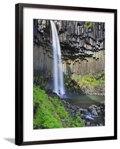 Svartifoss Waterfall, Skaftafell Park, Iceland-Michele Falzone-Framed Art Print