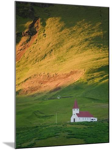 Vik Historic Church, Vik, South Coast, Iceland-Michele Falzone-Mounted Photographic Print