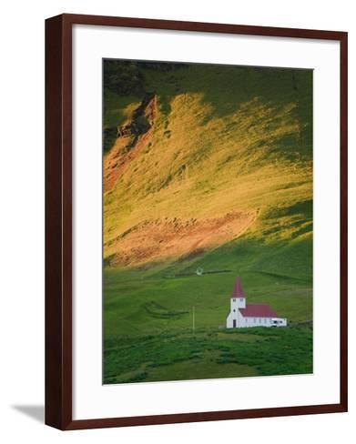 Vik Historic Church, Vik, South Coast, Iceland-Michele Falzone-Framed Art Print