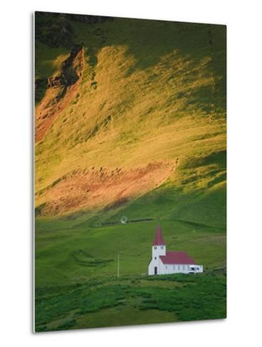 Vik Historic Church, Vik, South Coast, Iceland-Michele Falzone-Metal Print