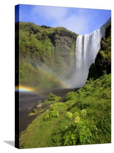 Skogafoss Waterfall, South Coast, Iceland-Michele Falzone-Stretched Canvas Print