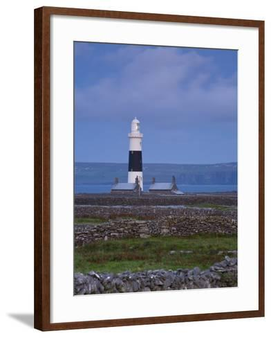 Inisheer Lighthouse, Inisheer, Aran Islands, Co, Galway, Ireland-Doug Pearson-Framed Art Print