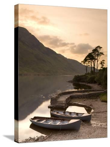 Fly Fishing Boats, Connemara National Park, Connemara, Co, Galway, Ireland-Doug Pearson-Stretched Canvas Print