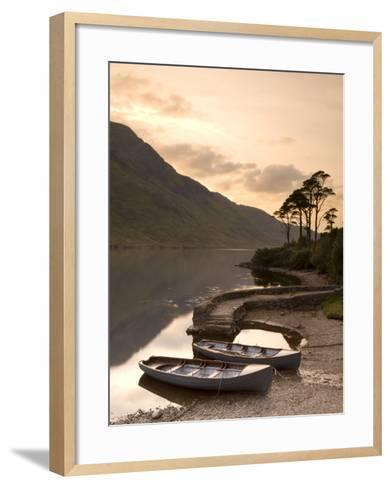 Fly Fishing Boats, Connemara National Park, Connemara, Co, Galway, Ireland-Doug Pearson-Framed Art Print