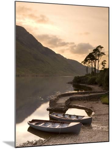 Fly Fishing Boats, Connemara National Park, Connemara, Co, Galway, Ireland-Doug Pearson-Mounted Photographic Print
