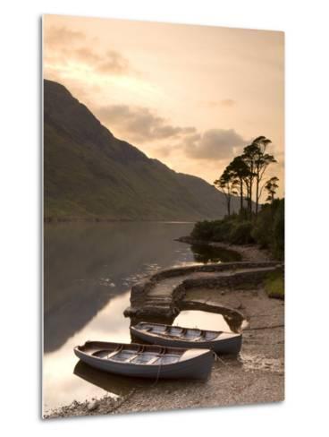 Fly Fishing Boats, Connemara National Park, Connemara, Co, Galway, Ireland-Doug Pearson-Metal Print