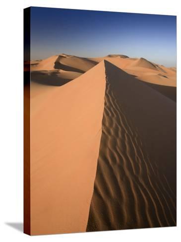 United Arab Emirates, Liwa Oasis, Sand Dunes Near the Empty Quarter Desert-Michele Falzone-Stretched Canvas Print