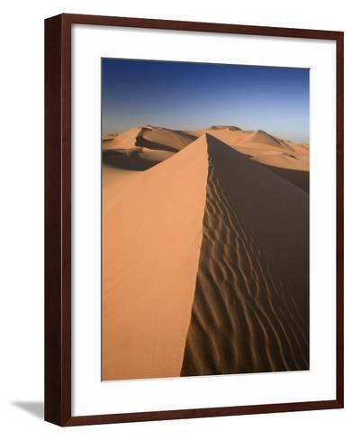 United Arab Emirates, Liwa Oasis, Sand Dunes Near the Empty Quarter Desert-Michele Falzone-Framed Art Print