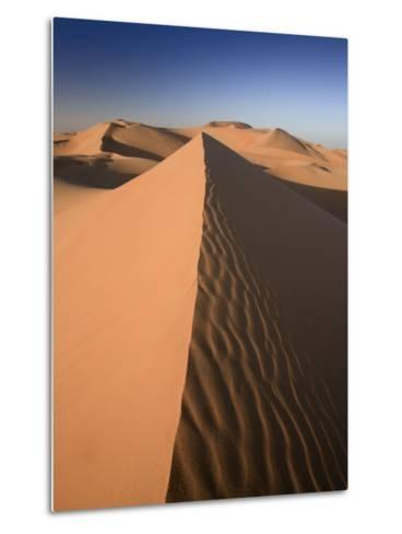United Arab Emirates, Liwa Oasis, Sand Dunes Near the Empty Quarter Desert-Michele Falzone-Metal Print
