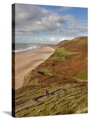 Wales, Glamorgan, Gower Peninsula, Rhossilli Bay, UK-Gavin Hellier-Stretched Canvas Print
