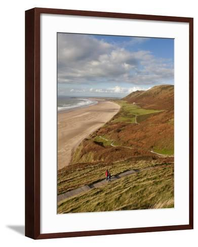 Wales, Glamorgan, Gower Peninsula, Rhossilli Bay, UK-Gavin Hellier-Framed Art Print