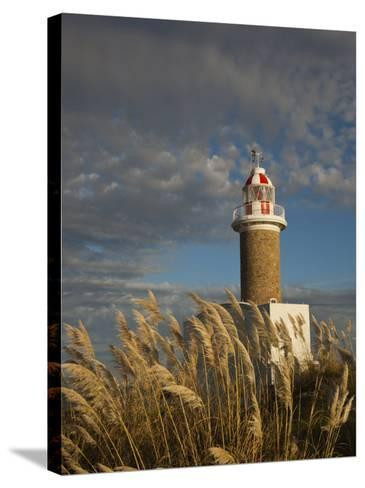 Montevideo, Punta Brava Lighthouse, Morning, Uruguay-Walter Bibikow-Stretched Canvas Print