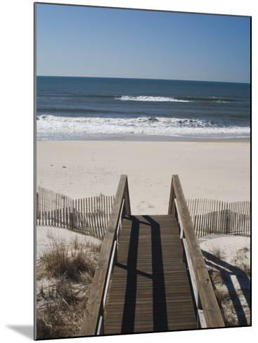 New York, Long Island, the Hamptons, Westhampton Beach, Beach View from Beach Stairs, USA-Walter Bibikow-Mounted Photographic Print