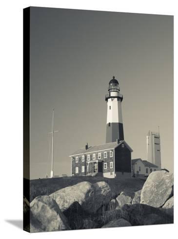 New York, Long Island, Montauk, Montauk Point Lighthouse, USA-Walter Bibikow-Stretched Canvas Print