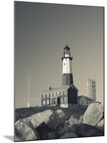 New York, Long Island, Montauk, Montauk Point Lighthouse, USA-Walter Bibikow-Mounted Photographic Print