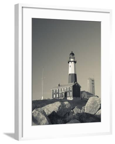 New York, Long Island, Montauk, Montauk Point Lighthouse, USA-Walter Bibikow-Framed Art Print