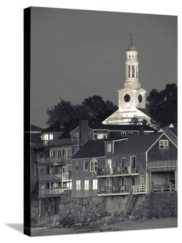 Massachusetts, Cape Ann, Rockport, Town View from Front Beach, USA-Walter Bibikow-Stretched Canvas Print