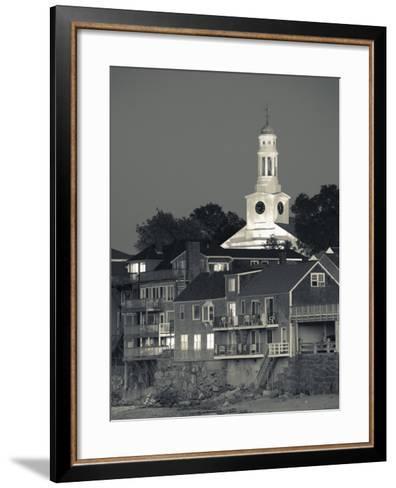 Massachusetts, Cape Ann, Rockport, Town View from Front Beach, USA-Walter Bibikow-Framed Art Print
