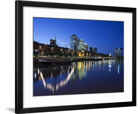 Buenos Aires, Puerto Madero, Highrise Buildings, Dusk, Argentina-Walter Bibikow-Framed Art Print