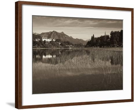 Rio Negro Province, Lake District, Llao Llao, Hotel Llao Llao and Andes Mountains, Argentina-Walter Bibikow-Framed Art Print