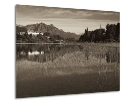 Rio Negro Province, Lake District, Llao Llao, Hotel Llao Llao and Andes Mountains, Argentina-Walter Bibikow-Metal Print