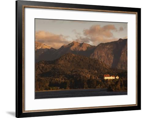 Rio Negro Province, Lake District, Llao Llao, Hotel Llao Llao and Lake Nahuel Huapi, Argentina-Walter Bibikow-Framed Art Print