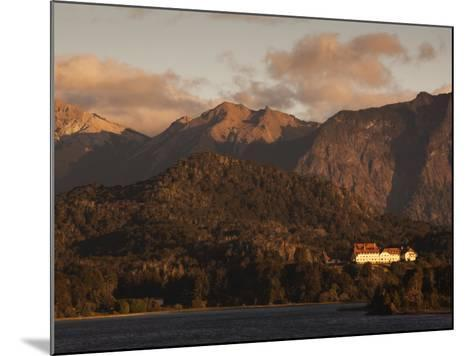 Rio Negro Province, Lake District, Llao Llao, Hotel Llao Llao and Lake Nahuel Huapi, Argentina-Walter Bibikow-Mounted Photographic Print