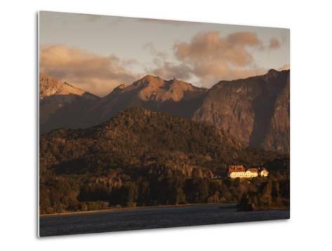 Rio Negro Province, Lake District, Llao Llao, Hotel Llao Llao and Lake Nahuel Huapi, Argentina-Walter Bibikow-Metal Print