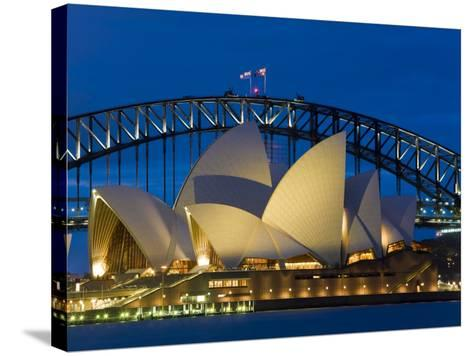 Sydney, Opera House at Dusk, Australia-Peter Adams-Stretched Canvas Print