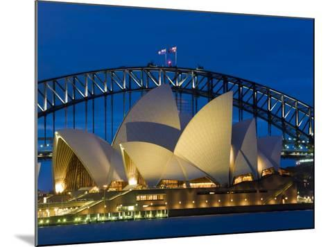 Sydney, Opera House at Dusk, Australia-Peter Adams-Mounted Photographic Print