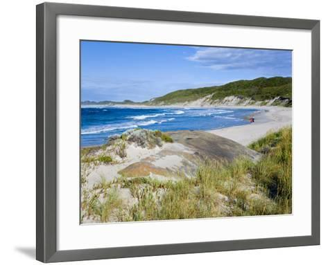 William Beach, William Bay National Park, Nr Denmark, Western Australia-Peter Adams-Framed Art Print