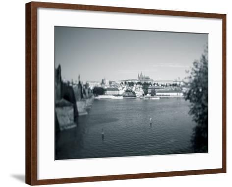St, Vitus Cathedral and Vltava River, Prague, Czech Republic-Jon Arnold-Framed Art Print