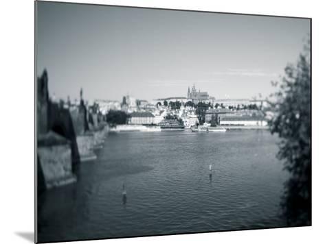 St, Vitus Cathedral and Vltava River, Prague, Czech Republic-Jon Arnold-Mounted Photographic Print