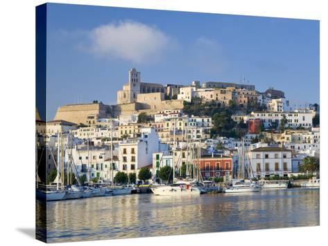Eivissa or Ibiza Town and Harbour, Ibiza, Balearic Islands, Spain-Peter Adams-Stretched Canvas Print
