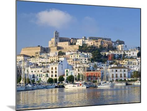 Eivissa or Ibiza Town and Harbour, Ibiza, Balearic Islands, Spain-Peter Adams-Mounted Photographic Print