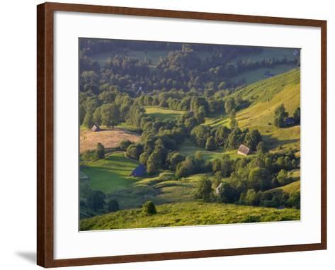 Valley Floor at Dawn, Grange Sous La Neige, Midi-Pyrenees, France-Doug Pearson-Framed Art Print