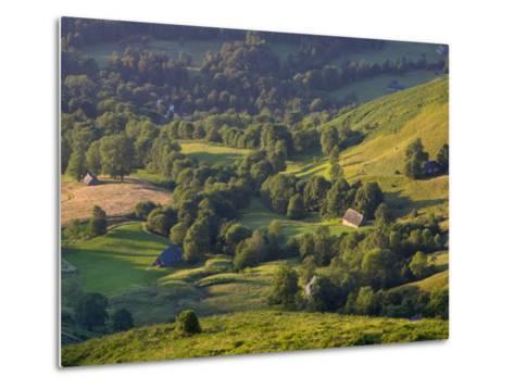 Valley Floor at Dawn, Grange Sous La Neige, Midi-Pyrenees, France-Doug Pearson-Metal Print