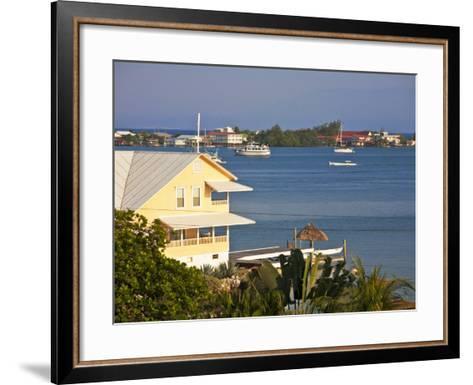 Bay Islands, Utila, View of Bay, Honduras-Jane Sweeney-Framed Art Print