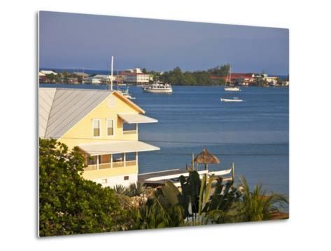 Bay Islands, Utila, View of Bay, Honduras-Jane Sweeney-Metal Print
