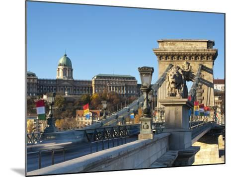 Chain Bridge and Royal Palace on Castle Hill, Budapest, Hungary-Doug Pearson-Mounted Photographic Print
