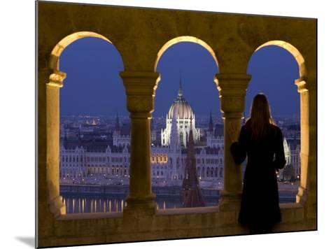 Hungarian Parliament Seen from Fishermans Bastion, Budapest, Hungary-Doug Pearson-Mounted Photographic Print